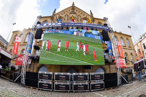 écran led extérieur euro football retransmission