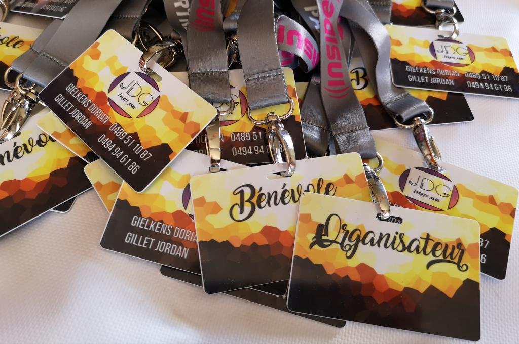 Badges PVC imprimés événement