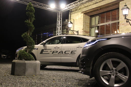 soirée corporate garage thiry jaguar e-pace éclairage